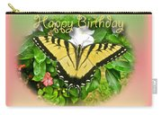 Birthday Greeting Card - Tiger Swallowtail Butterfly Carry-all Pouch