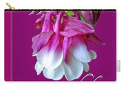 Birthday Greeting Card - Columbine Flower Carry-all Pouch