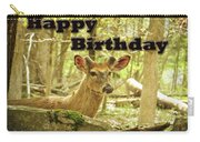 Birthday Greeting Card - Whitetail Deer Buck In Velvet Carry-all Pouch