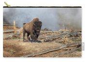 Bison And Geyser Carry-all Pouch