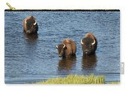 Bison Enjoying The Water Carry-all Pouch