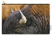 Bison Grazing, Northern British Columbia Carry-all Pouch