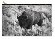 Bison In Black And White Carry-all Pouch