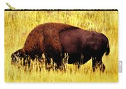 Bison In Field Carry-all Pouch