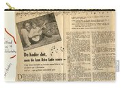 Bits From Danish Article From The Fifties Carry-all Pouch
