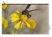 Bitterweed And Black Wasp Carry-all Pouch