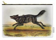 Black American Wolf Carry-all Pouch