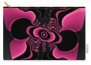 Black And Pink Fractal Butterfly Carry-all Pouch
