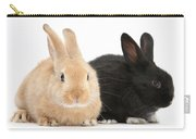 Black And Sandy Rabbits Carry-all Pouch