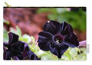 Black And Velvety Carry-all Pouch