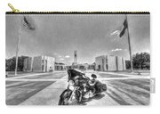 Black And White - Pgr At Houston National Cemetery Carry-all Pouch