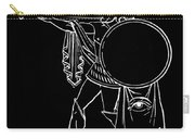 Black And White Ancient Greek Warrior Carry-all Pouch
