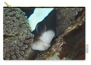 Black And White Anemone Fish Looking Carry-all Pouch by Mathieu Meur
