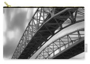 Black And White Blue Water Bridge Carry-all Pouch