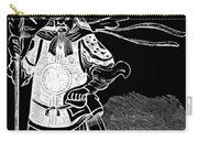 Black And White Chinese Warrior Carry-all Pouch