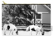 Black And White Clydesdale Grazing Carry-all Pouch