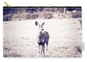 Black And White Deer Carry-all Pouch