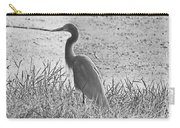 Black And White Egret  Carry-all Pouch