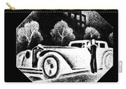 Black And White French Car Carry-all Pouch