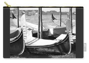 Black And White Gondolas Venice Italy Carry-all Pouch