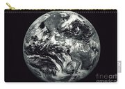 Black And White Image Of Earth Carry-all Pouch
