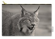 Black And White Lynx Carry-all Pouch