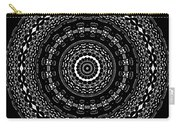 Black And White Mandala No. 4 Carry-all Pouch