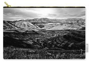 Black And White Painted Hills Carry-all Pouch