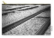 Black And White Railroad Tracks Carry-all Pouch