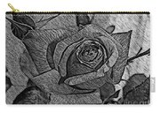 Black And White Rose Sketch Carry-all Pouch