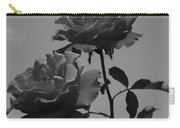 Black And White Roses Carry-all Pouch