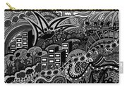 Black And White Seaside Carry-all Pouch