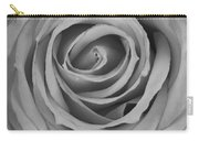 Black And White Spiral Rose Petals Carry-all Pouch