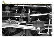 Black And White Steam Engine - Greeting Card Carry-all Pouch