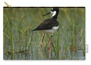 Black And White Stilt Carry-all Pouch