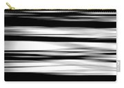 Black And White Striped Wave Pattern Carry-all Pouch