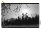 Black And White Sunrise Carry-all Pouch
