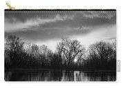 Black And White Sunrise Over Water Carry-all Pouch by James BO  Insogna