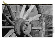 Black And White Wagon Wheel Carry-all Pouch