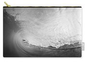 Black And White Wave Breaking On Makena Shore Carry-all Pouch