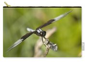 Black And White Widow Skimmer Dragonfly Carry-all Pouch