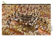 Black And White Zebra Crab On Fire Carry-all Pouch