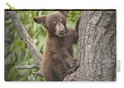 Black Bear Cub Hanging On Carry-all Pouch