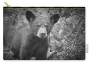 Black Bear Cub In A Pine Tree Carry-all Pouch