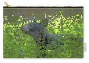 Black Bear In Green Carry-all Pouch