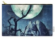 Black Bird Landing On A Branch In The Moonlight Carry-all Pouch