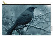 Black Bird On Branch Carry-all Pouch