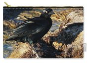 Black Bird With Yellow Eyes Carry-all Pouch