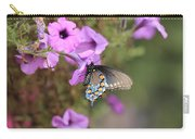 Black Blue And Orange Butterfly V3  Carry-all Pouch
