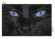 Black Cat Blue Eyes Carry-all Pouch